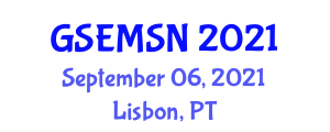 Global Summit and Expo on Materials Science and Nanoscience (GSEMSN) September 06, 2021 - Lisbon, Portugal