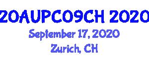 International Architecture and Urban Planning Conference (20AUPC09CH) September 17, 2020 - Zurich, Switzerland