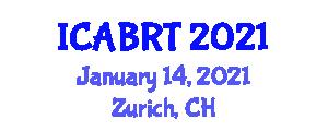 International Conference on Addiction Behavior and Rehabilitation Therapies (ICABRT) January 14, 2021 - Zurich, Switzerland