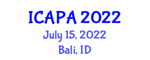 International Conference on Addiction Problems and Addicteds (ICAPA) July 15, 2022 - Bali, Indonesia