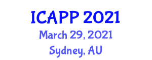 International Conference on Addiction Psychiatry and Psychology (ICAPP) March 29, 2021 - Sydney, Australia