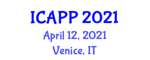 International Conference on Addiction Psychology and Psychiatry (ICAPP) April 12, 2021 - Venice, Italy