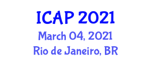 International Conference on Addiction Psychology (ICAP) March 04, 2021 - Rio de Janeiro, Brazil