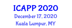 International Conference on Addiction Psychopharmacology and Pharmacotherapy (ICAPP) December 17, 2020 - Kuala Lumpur, Malaysia
