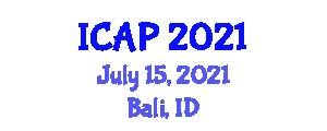 International Conference on Addiction Psychopharmacology (ICAP) July 15, 2021 - Bali, Indonesia