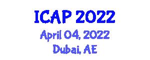 International Conference on Addiction Psychopharmacology (ICAP) April 04, 2022 - Dubai, United Arab Emirates