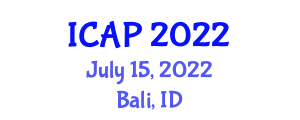 International Conference on Addiction Psychopharmacology (ICAP) July 15, 2022 - Bali, Indonesia