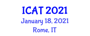 International Conference on Addiction Therapy (ICAT) January 18, 2021 - Rome, Italy