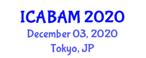 International Conference on Addictive Behaviour and Addiction Medicine (ICABAM) December 03, 2020 - Tokyo, Japan