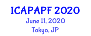 International Conference on Adolescent Physical Activity and Physical Fitness (ICAPAPF) June 11, 2020 - Tokyo, Japan