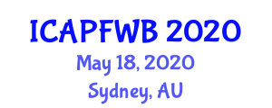 International Conference on Adolescent Physical Fitness and Well-Being (ICAPFWB) May 18, 2020 - Sydney, Australia