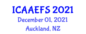 International Conference on Advanced Aerospace Engineering and Flight Software (ICAAEFS) December 01, 2021 - Auckland, New Zealand
