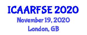 International Conference on Advanced Aerospace Robotics and Flight Software Engineering (ICAARFSE) November 19, 2020 - London, United Kingdom