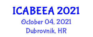 International Conference on Advanced Biotechnology for Energy and Environment Applications (ICABEEA) October 04, 2021 - Dubrovnik, Croatia