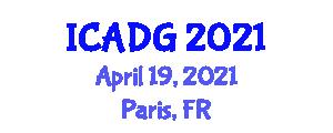 International Conference on Advanced Digital Geography (ICADG) April 19, 2021 - Paris, France