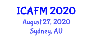 International Conference on Advanced Fibers and Materials (ICAFM) August 27, 2020 - Sydney, Australia