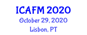 International Conference on Advanced Fibers and Materials (ICAFM) October 29, 2020 - Lisbon, Portugal