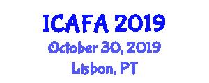 International Conference on Advanced Food Analysis (ICAFA) October 30, 2019 - Lisbon, Portugal