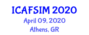 International Conference on Advanced Food Science, Ingredients and Micronutrients (ICAFSIM) April 09, 2020 - Athens, Greece