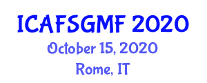 International Conference on Advanced Food Sciences and Genetically Modified Foods (ICAFSGMF) October 15, 2020 - Rome, Italy