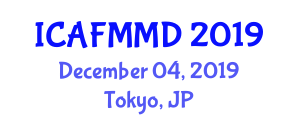 International Conference on Advanced Functional Materials for Modern Devices (ICAFMMD) December 04, 2019 - Tokyo, Japan
