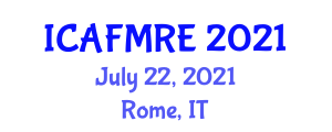 International Conference on Advanced Functional Materials for Renewable Energy (ICAFMRE) July 22, 2021 - Rome, Italy