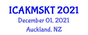 International Conference on Advanced Knowledge Management and Secure Knowledge Transferring (ICAKMSKT) December 01, 2021 - Auckland, New Zealand