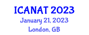 International Conference on Advanced Nanorobotics, Approaches and Techniques (ICANAT) January 21, 2023 - London, United Kingdom