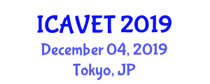 International Conference on Advancements in Vehicle Engineering and Technology (ICAVET) December 04, 2019 - Tokyo, Japan