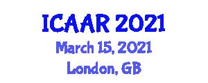 International Conference on Advances in Aerospace Robotics (ICAAR) March 15, 2021 - London, United Kingdom