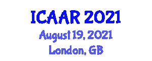 International Conference on Advances in Augmented Robotics (ICAAR) August 19, 2021 - London, United Kingdom