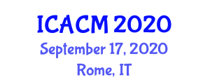 International Conference on Advances in Carbon Materials (ICACM) September 17, 2020 - Rome, Italy