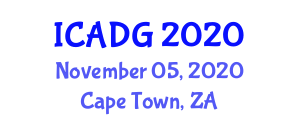 International Conference on Advances in Digital Geography (ICADG) November 05, 2020 - Cape Town, South Africa