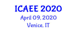 International Conference on Advances in Electrical Engineering (ICAEE) April 09, 2020 - Venice, Italy