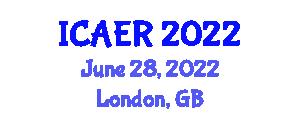 International Conference on Advances in Environmental Robotics (ICAER) June 28, 2022 - London, United Kingdom