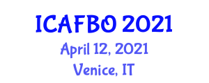 International Conference on Advances in Fiber-Optic Biosensors (ICAFBO) April 12, 2021 - Venice, Italy