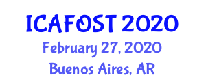 International Conference on Advances in Fiber Optic Sensor Technologies (ICAFOST) February 27, 2020 - Buenos Aires, Argentina