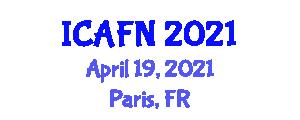 International Conference on Advances in Food Nanotechnology (ICAFN) April 19, 2021 - Paris, France