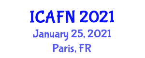 International Conference on Advances in Food Nanotechnology (ICAFN) January 25, 2021 - Paris, France