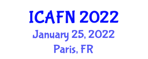 International Conference on Advances in Food Nanotechnology (ICAFN) January 25, 2022 - Paris, France