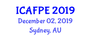 International Conference on Advances in Food Process Engineering (ICAFPE) December 02, 2019 - Sydney, Australia