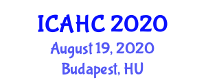 International Conference on Advances in Halogen Chemistry (ICAHC) August 19, 2020 - Budapest, Hungary