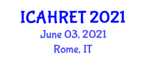 International Conference on Advances in Home Renewable Energy Technologies (ICAHRET) June 03, 2021 - Rome, Italy