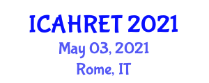 International Conference on Advances in Home Renewable Energy Technologies (ICAHRET) May 03, 2021 - Rome, Italy
