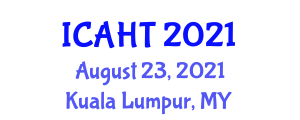 International Conference on Advances in Hydroelectric Technologies (ICAHT) August 23, 2021 - Kuala Lumpur, Malaysia