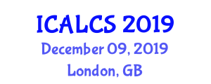 International Conference on Advances in Land and Construction Surveying (ICALCS) December 09, 2019 - London, United Kingdom