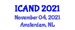 International Conference on Advances in Nutrition Diagnostics (ICAND) November 04, 2021 - Amsterdam, Netherlands