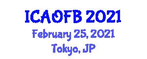 International Conference on Advances in Optical Fiber Biosensors (ICAOFB) February 25, 2021 - Tokyo, Japan