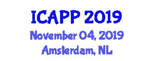 International Conference on Advances in Photochemistry and Photoelectrochemistry (ICAPP) November 04, 2019 - Amsterdam, Netherlands