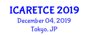International Conference on Advances in Radio Electronics, Telecommunications and Computer Engineering (ICARETCE) December 04, 2019 - Tokyo, Japan